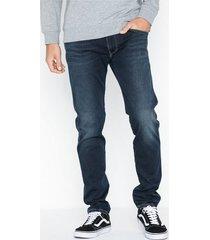 replay anbass trousers jeans mörk blå