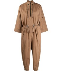 áeron drawstring waist jumpsuit - brown