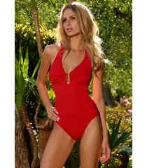 melissa odabash tampa swimsuit red pique