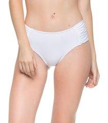 calcinha drapeada larga branco essencial ana hickmann - multicolorido - feminino - dafiti