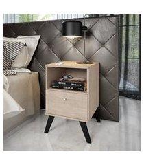 mesa de cabeceira com 1 nicho e 1 gaveta marrom lilies móveis
