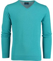 bos bright blue blue vince v-neck pullover flat kn 20105vi01bo/242 turquoise