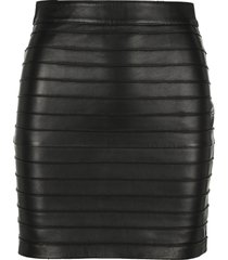 alessandra rich leather mini skirt