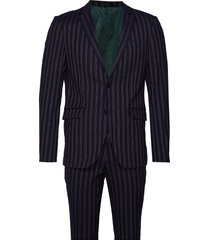 striped suit pak blauw lindbergh