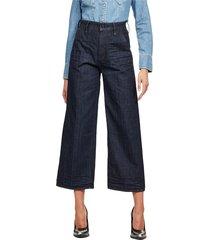 g-star d16096 b988 eyevi high wide jeans women denim dark blue
