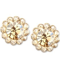 zenzii gold-tone crystal stud earrings