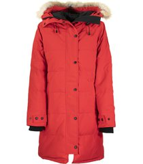 canada goose shelburne parka red jacket
