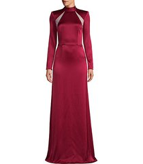 charita long sleeve a-line gown