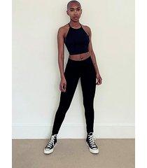 black sports stitch pants - black