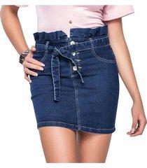 falda corta para mujer azul mp