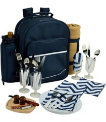 picnic at ascot deluxe 4 person picnic backpack cooler, wine pouch and blanket