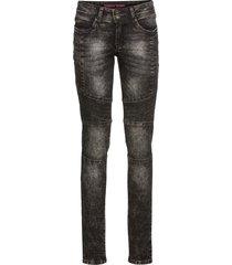 jeans skinny con impunture modellanti (nero) - rainbow