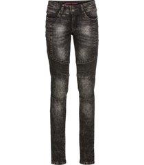 jeans skinny  in stile biker (nero) - rainbow