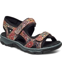 68866-90 shoes summer shoes flat sandals multi/mönstrad rieker