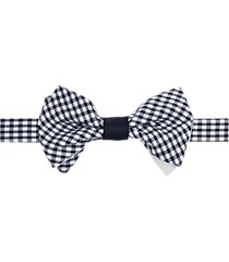 paisley & gray pre-tied bow tie navy gingham