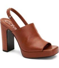 calvin klein women's dottie platform slingbacks sandal women's shoes