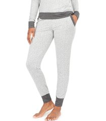 alfani women's animal-print jogger pajama pants, created for macy's