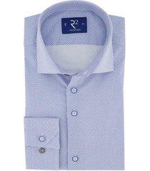 mouwlengte 7 overhemd r2 blauw dessin