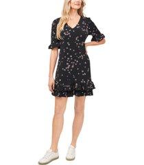 cece floral ruffled dress