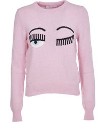 chiara ferragni pink flirting sweater