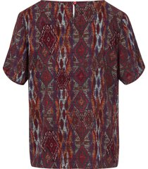 blouseshirt met korte mouwen van peter hahn rood