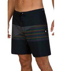 hurley phantom slash board shorts, size 28 in black at nordstrom
