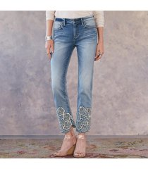 driftwood jeans colette pressed flowers jeans