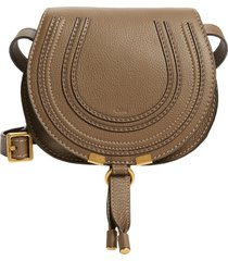 chloe mini marcie leather crossbody bag - green