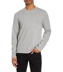 men's vince cashmere crewneck sweater, size x-large - grey