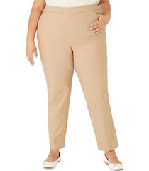 alfred dunner plus size classic allure tummy control pull-on pants