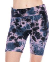 honeydew daze off tie dye printed biker shorts