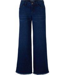 jeans elasticizzati culotte in cotone biologico (blu) - john baner jeanswear