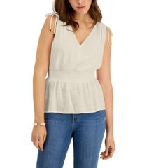 palette smocked gauze sleeveless top