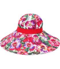dolce & gabbana wide brim sun hat - red