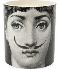 fornasetti vela aromatizada com suporte de porcelana - preto