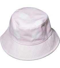 lele x solid & striped painted gingham bucket hat