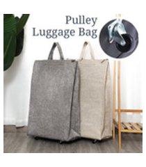 bolsa de viagem feminina masculina bolsa dobrável feminina bolsa de compras puxador de supermercado bolsa com rodas bolsa de armazenamento portátil