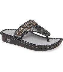 women's alegria 'vanessa' thong sandal, size 7-7.5us / 37eu - white