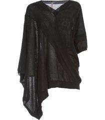 antonio marras sweater s/s v neck asymmetric