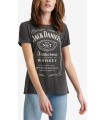 lucky brand cotton jack daniels whiskey graphic t-shirt