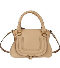 chloé top zip wrapped handle tote