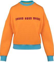 bluza pomarańczowy kokltajl