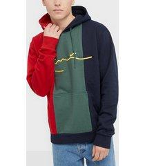 karl kani kk signature block hoodie tröjor flerfärgad
