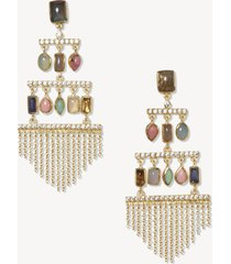 women's chandelier earrings gold one size from sole society