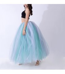 women rainbow maxi skirt drawstring waist mint gray maxi tulle skirt petticoats