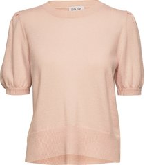 puff shoulder top t-shirts & tops knitted t-shirts/tops roze davida cashmere