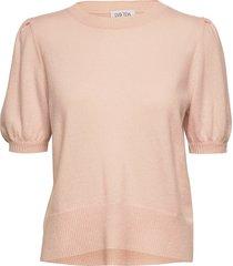 puff shoulder top t-shirts & tops knitted t-shirts/tops roze davida cashmere