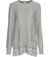 maglione con volant (grigio) - bodyflirt