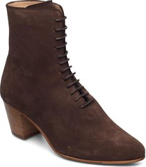 avenue suede lace up 201 shoes boots ankle boots ankle boot - heel brun royal republiq