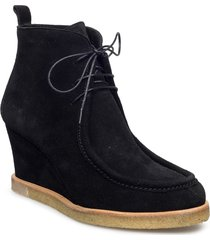 booties - wedge shoes boots ankle boots ankle boots with heel svart angulus